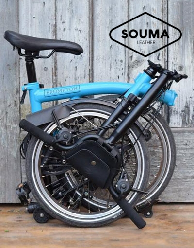 New for Brompton: Souma Leather handlebar bags