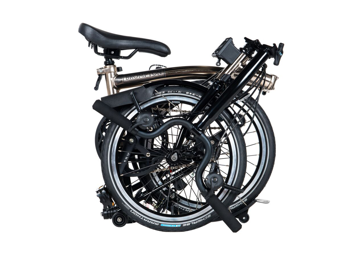 Brompton 2017 Nickel Edition, folded