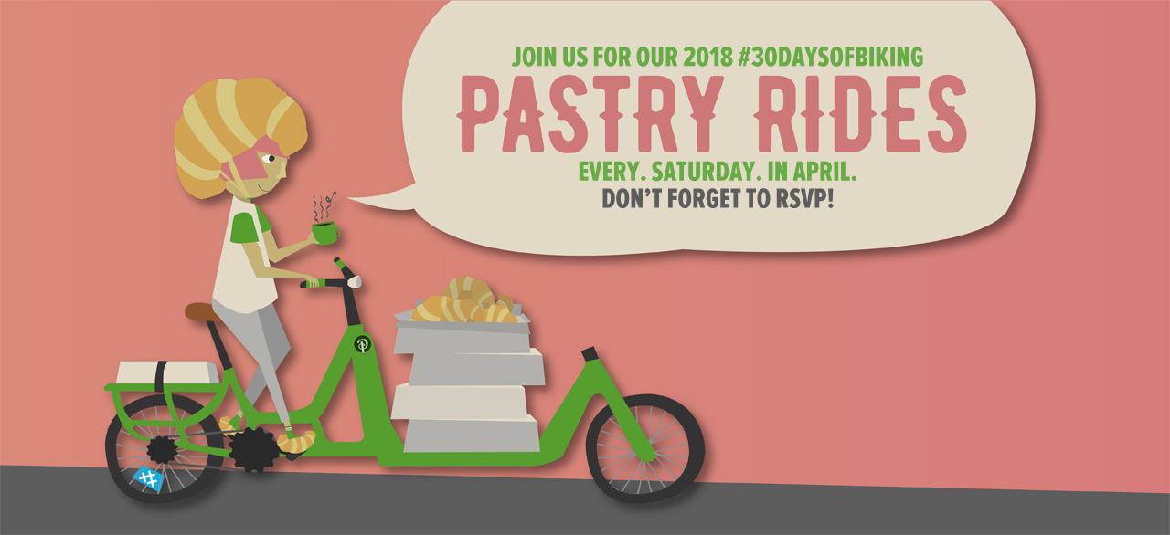 Pastry Rides at Perennial Cycle, every Saturday in April